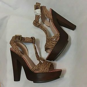 Shoemint Cabo Ankle Wrap Platform Sandals Shoes